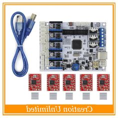52.68$  Watch here - http://alibei.worldwells.pw/go.php?t=32701552243 - 3D Printer Parts Control board GT2560 Support Dual Extruder Power Than ATmega2560 Ultimaker + 5PCS A4988 5PCS Heatsinks FreeShip 52.68$