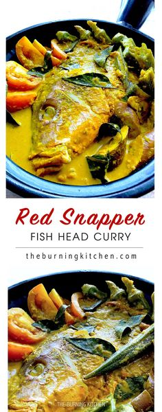 Curry Fish Head: This iconic Singaporean & Malaysian favourite combines the rich spices of South India, the tangy flavour of tamarind and the creamy goodness of coconut milk with deliciously tender fish head, a Chinese delicacy.
