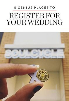 5 Genius Places You Didn't Know You Could Register for Your Wedding via @PureWow