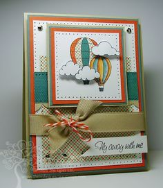 fly away awesome balloon card