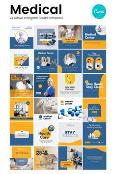 Instagram Feed Planner, Feeds Instagram, Instagram Feed Layout, Instagram Square, Instagram Design, Social Media Poster, Social Media Design, Post Design, Medical Posters