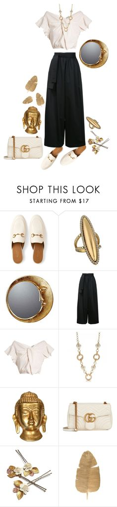 """I like me better"" by aycagungorurler ❤ liked on Polyvore featuring Gucci, House of Harlow 1960, WALL, Tome, Rachel Comey, Kate Spade and vintage"