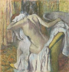 After the Bath, Woman Drying Herself by Edgar Degas (c1890-5). Photograph: © The National Gallery