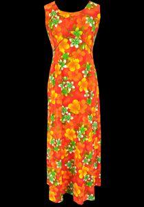 Womens Vintage Clothing 1960s Royal Hawaiian Flower Dress Medium @ Monster Vintage