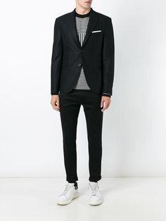 Leather & Neoprene SKINNY FIT Jacket Fall/winterNeil Barrett lo1eEx