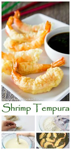 Crispy tempura battered shrimp is the perfect appetizer to any seafood themed dinner.