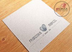 Einladungskarten - Hochzeitseinladung Kraftpapier,Vintage,Abdruck - ein…