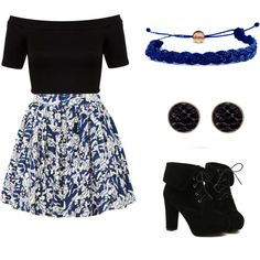 untitled #12 by magicandpeanut on Polyvore featuring Miss Selfridge, Elle Sasson, TURNOVER, Domo Beads and Oasis