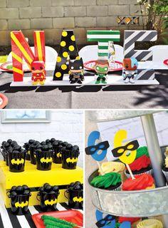 Justice League Boy's Birthday Party