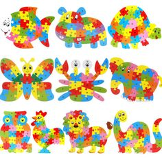 High Quality Wooden Animal Puzzle Jigsaw Letter  Kid Learing Educational Toy Aug12