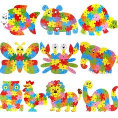 Puzzle, různé motivy, cena 50 Kč včetně dopravy Hračky, montessori pomůcky, věci na tvoření z Aliexpressu #hračky #puzzle #matematika #fyzika #sluch #tvoření #děti #rodina #montessori #tip3dmámablog #aliexpress