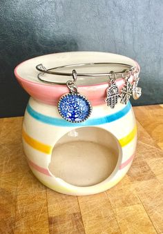 Items similar to Hamsa/Tree of Life expandable charm Bracelet on Etsy Etsy Jewelry, Unique Jewelry, My Etsy Shop, Charmed, Trending Outfits, Hats, Bracelets, Handmade Gifts, Life