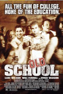 Old School (Luke Wilson, Vince Vaughn, Will Ferrell) - 43% - Occasionally funny not much more to say.
