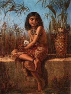"Frederick Goodall  ""An Eygptian Flower Girl"""