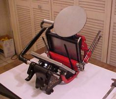tabletop letterpress machine - want and need and dribble over
