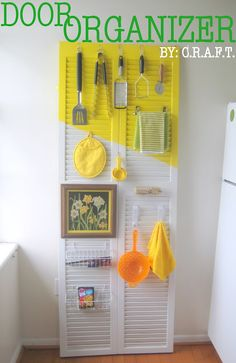 Decorate a door for your kitchen storage and organization