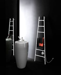 Who would have thought that a humble radiator could be so stunning! Scaletta by Italian studio Tubes Radiatori draws on the vision of a ladder leaning up against a wall. It can perform in the bathr. Decorative Radiators, Towel Warmer, Upstairs Bathrooms, Modern Bathroom Decor, Towel Rail, Industrial Chic, Rustic Design, Bathroom Inspiration, Wall Design