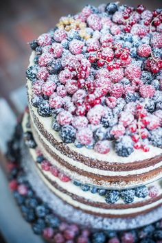 wedding cake happines color love naked cake vintige cake birthday cake fruit