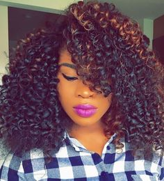 "www.luxvihair.com 3 bundles of 14"" Peruvian Very Curly"