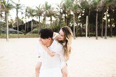 Ensaio de casal na praia do Beach Park