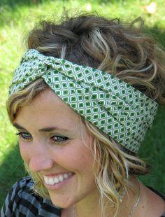 Head Wrap Collection Head Scarf Wide Turban Boho - Lynnie. $15.95, via Etsy.
