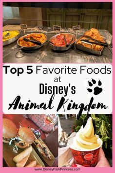 Disney's Animal Kingdom has so many things to do and see that food almost seems like an after thought. (Gasp! Who said that?!) But in reality, there are some delicious things to eat at Disney's Animal Kingdom! Here are my top 5 favorite things to eat at Animal Kingdom. Disney World Secrets, Disney World Hotels, Disney World Food, Disney World Restaurants, Disney World Magic Kingdom, Disney World Parks, Disney World Planning, Walt Disney World Vacations, Disney World Tips And Tricks