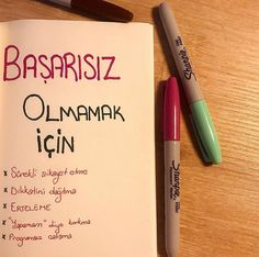 Bullet Journel, Learn Turkish, Study Hard, Permanent Marker, Clean House, Karma, Markers, Challenges, Advice