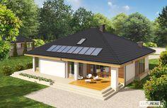 Projekt domu Flori III G1 ECONOMIC (wersja A) - widok z góry