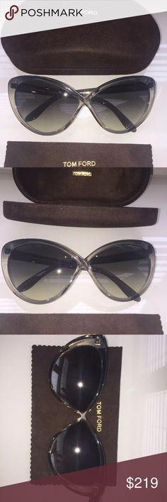 Tom Ford Women's Sunglasses With Case And Cloth 100% authentic tom ford sunglasses with case and cloth. Sunglasses are in great conditions, used few times only. There are few tiny scratches on plastic, unnoticeable; glass is perfect. Retail price is $475 plus tax. Glasses are beautiful and Super stylish. You will get tons of complements!  Please feel free to ask me any questions. Best regards! Tom Ford Accessories Glasses