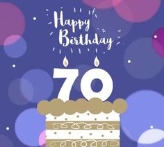 A cute happy birthday to a wonderful 70 year old! Free online Happy Birthday ecards on Birthday 70 Birthday Cards, Birthday Songs, 70th Birthday, Beautiful Birthday Cards, Cute Happy Birthday, Birthday Wishes Funny, Birthday Sparklers, Birthday Blessings, Online Greeting Cards