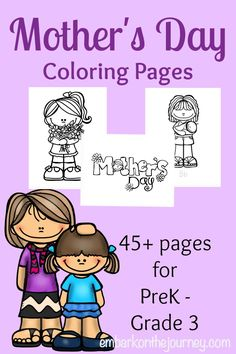 Little ones will love coloring these free Mother's Day pages for momma. There are more than 45 pages to choose from. Mothers Day Coloring Pages, Free Kids Coloring Pages, Preschool Education, Homeschool Kindergarten, Fun Activities For Kids, Preschool Activities, Creative Activities, Mother's Day Colors, Tot School