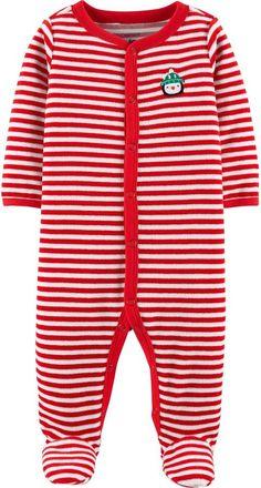 020032b4447b Baby Carter s Microfleece Christmas Footed Pajamas in 2019 ...
