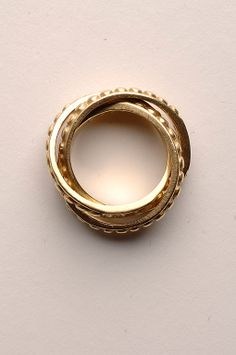 Judith Ripka Rolling Rings with Diamonds | From a unique collection of vintage band rings at http://www.1stdibs.com/jewelry/rings/band-rings/