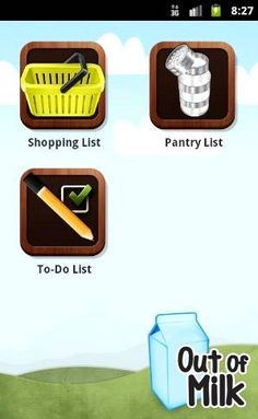 Out of Milk App {grocery list}