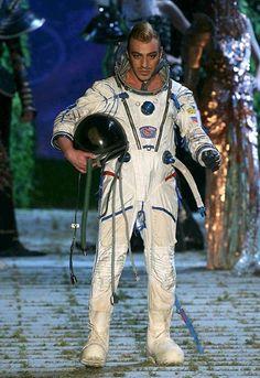 John Galliano at the Christian Dior a/w 2006 Haute Couture Fashion Show.