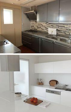 집꾸미기 Korean Apartment Interior, Muji Home, Luxury Kitchens, Decoration, My Dream Home, Kitchen Decor, Kitchen Cabinets, House Design, China