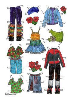 Josefine Paper Doll in Colours. Josefine påklædningsdukke i farver. Female Names, Vintage Paper Dolls, Great Memories, Illustrations And Posters, S Girls, Mommy And Me, Matilda, Monkey, Paper Crafts