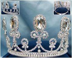 Parisian Rhinestone adjustable crown tiara - Crown Designers - Rhinestone Crowns, Tiaras & Scepters