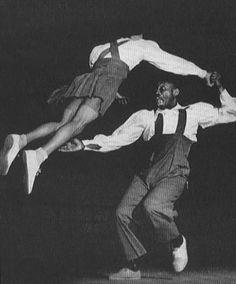 Frankie Manning doing Lindy Hop Aerials (1941)