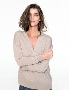 Mela Purdie Fold Neck Sweater Winter Wardrobe, Knitwear, Ready To Wear, Sweaters, How To Wear, Collection, Fashion, Capsule Wardrobe Winter, Moda