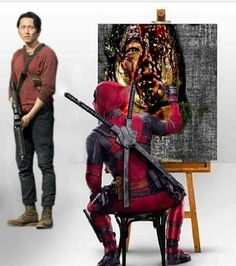 DEADPOOL DRAWS GLENN!