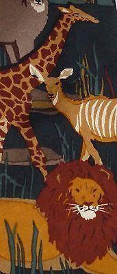 WWF Wild Animals Lion Giraffe Antelope Zebra Hippo Deer Leopard Tie