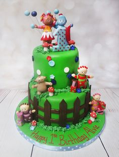 """This is A lovely 1st birthday cake"""" In to the night Garden"""". #intothenightgardencake  https://www.craftycakes.com/"""