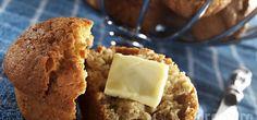 MUFFINS SANTÉ AUX BANANES Cornbread, Biscuits, Ice Cream, Breakfast, Ethnic Recipes, Food, Cakes, Amp, No Sugar Desserts
