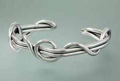 6st 182a - Women's Sterling Silver Heavy Gauge Wrap Vine Cuff. 5st 182b - Men's Sterling Silver Heavy Gauge Wrap Vine Cuff (Not Shown).