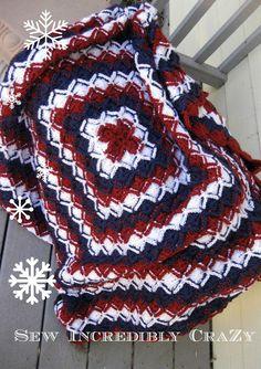 Bavarian Crochet - Red, White, and Blue