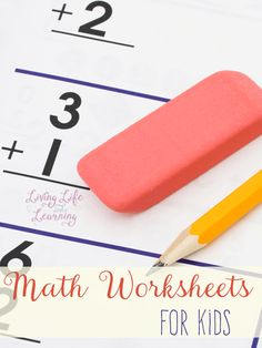 Different themed math worksheets for kids from toddlers to elementary students