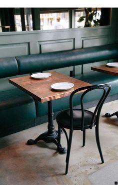 restaurant furniture 32 Trendy Banquette Seating C - Small Restaurant Design, Decoration Restaurant, Deco Restaurant, Restaurant Seating, Restaurant Furniture, Cafe Furniture, Restaurant Banquette, Vintage Restaurant, Cafe Tables