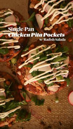 Chicken Pita, Pita Pockets, Sheet Pan Suppers, Potato Sides, Penne Pasta, Copycat Recipes, Dinner Recipes, Yummy Food, Finger Tattoos
