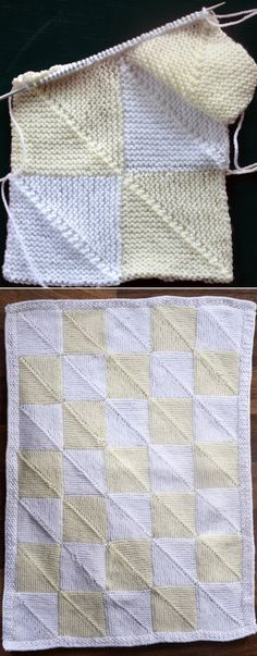 Domino Baby Blanket This knit pattern / tutorial is available for free. Kids Knitting Patterns, Knitting For Kids, Knitting Stitches, Baby Patterns, Free Knitting, Knitting Projects, Baby Knitting, Crochet Patterns, Baby Afghan Crochet
